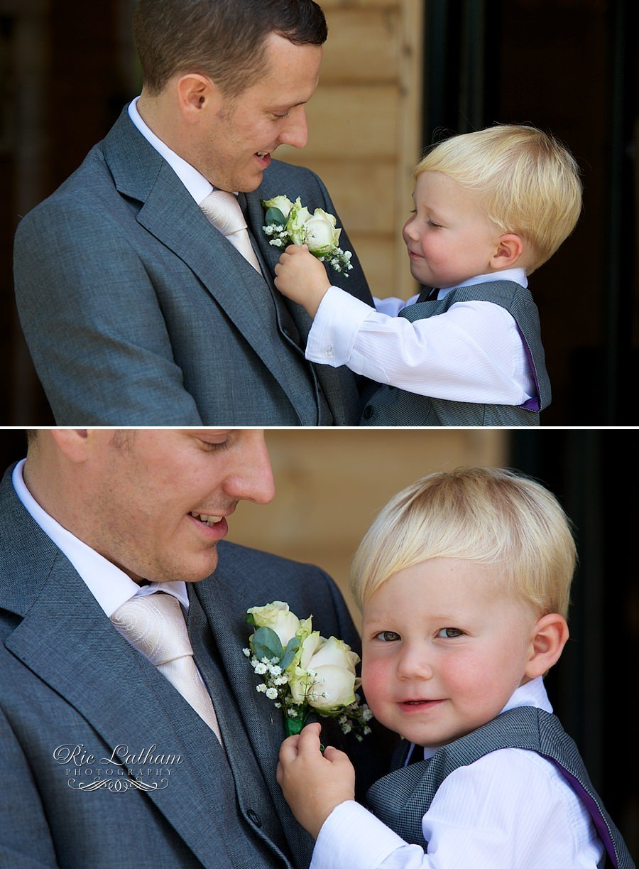young boy and groom