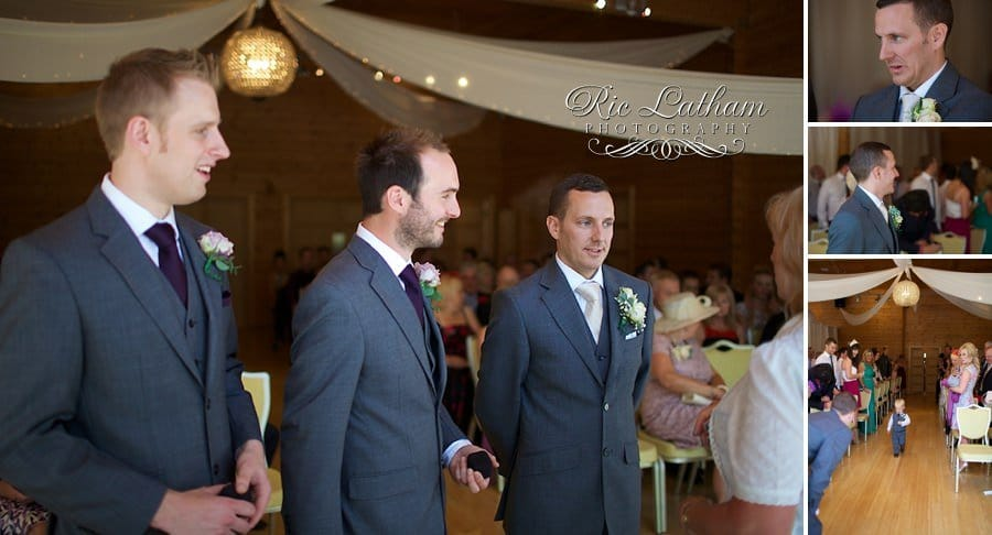 groom looking nervous