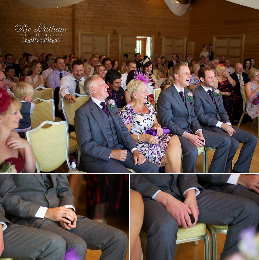 guests at a wedding, awaiting bride.