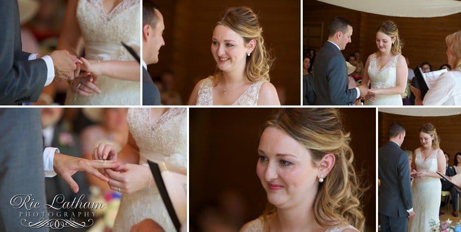 Bride and groom exchange of rings
