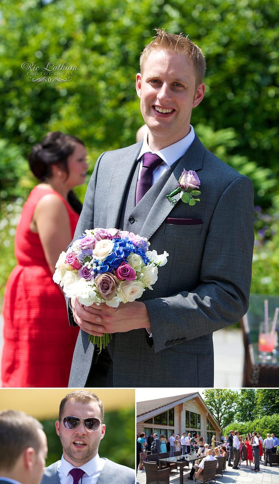 best man with bride bouquet