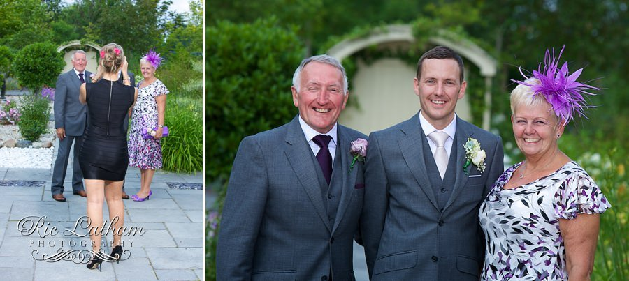guest photo bombing the wedding photos
