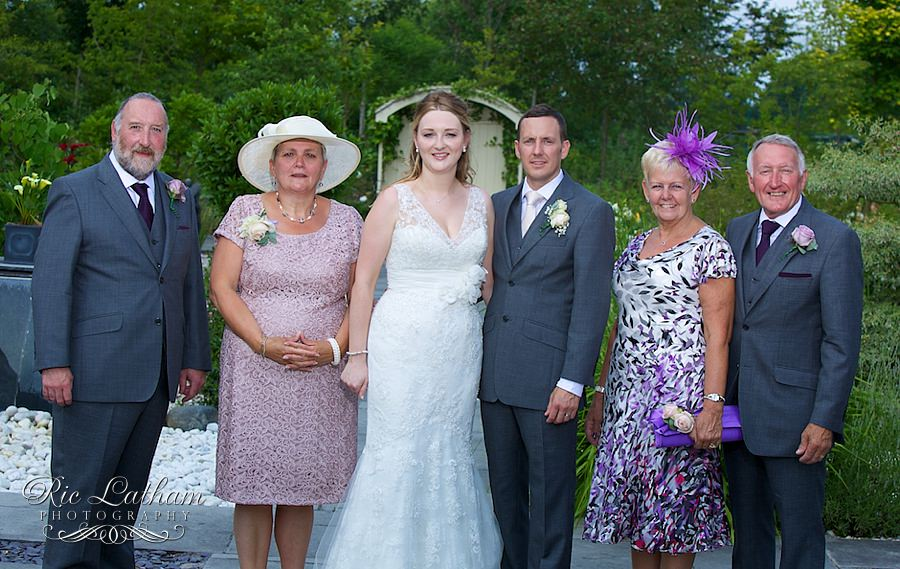 Bride and groom and their parents
