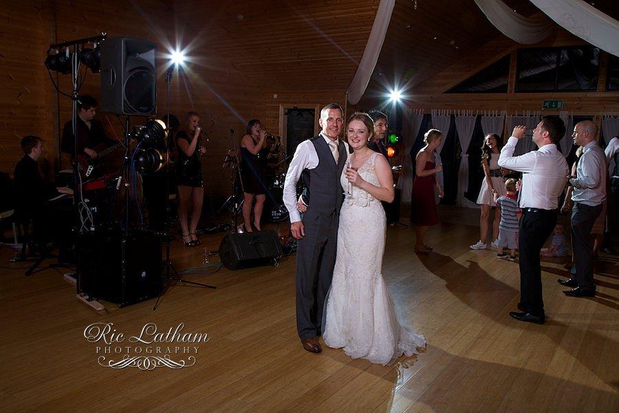 bride and groom on the dancefloor at styal lodge