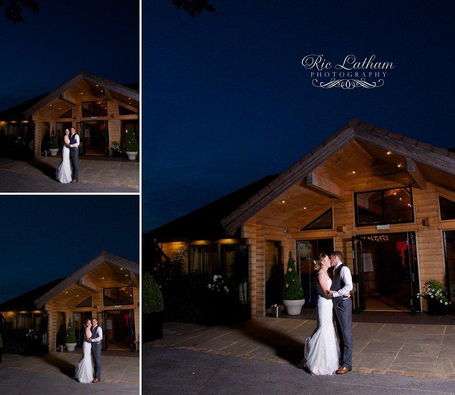 bride and groom nighttime at styal lodge