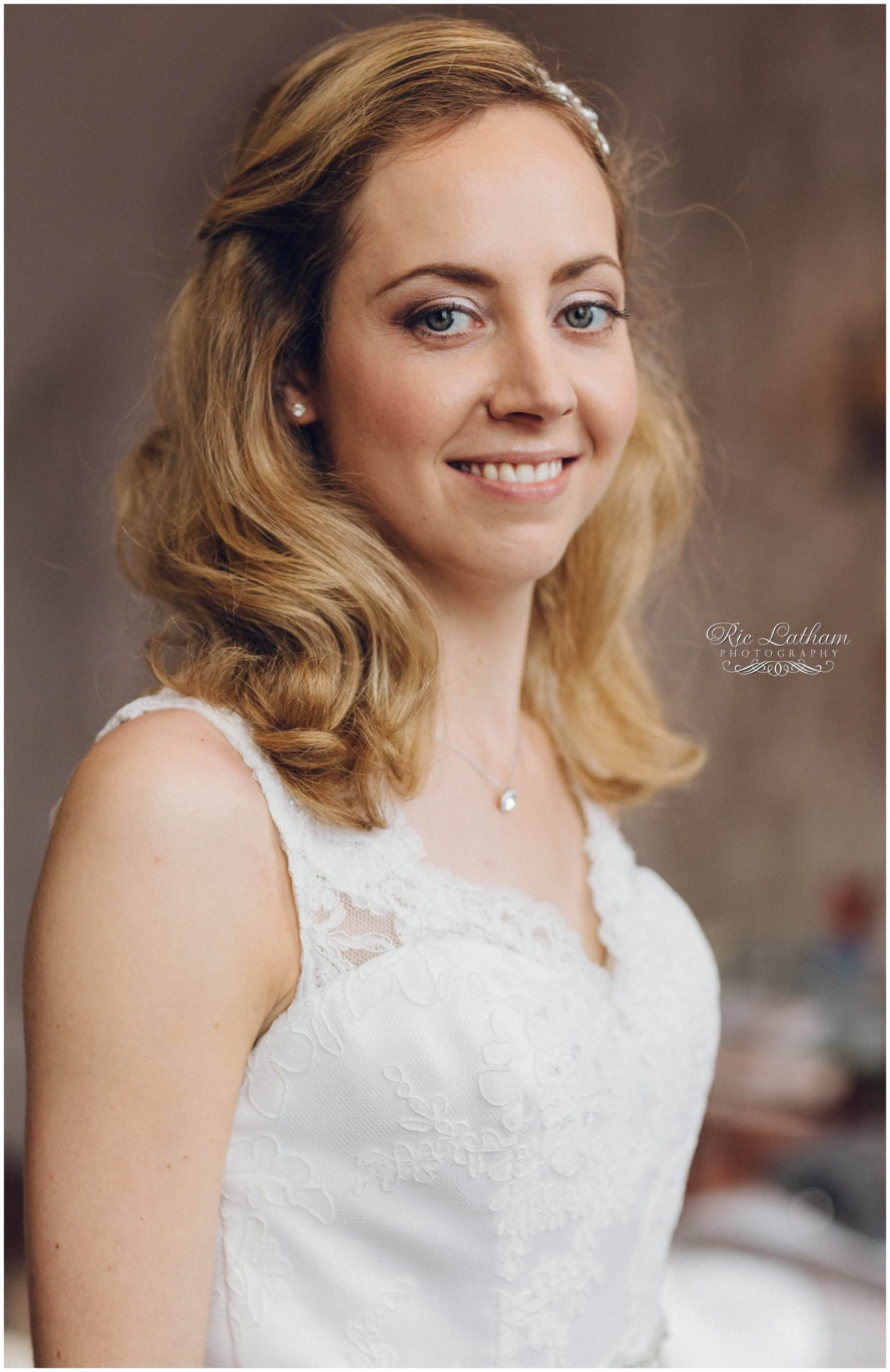 Brides portrait before getting married