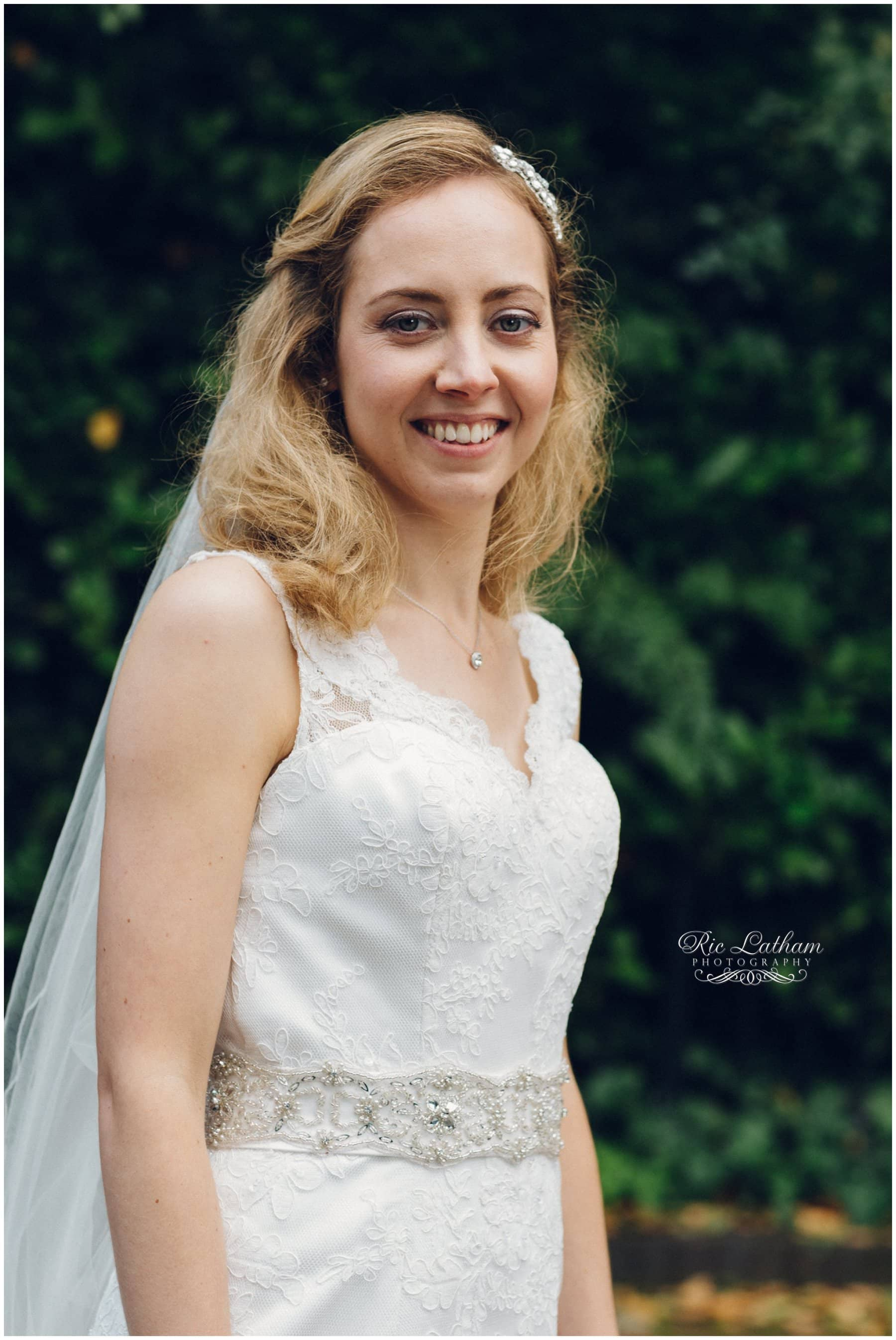 Happy bride portrait