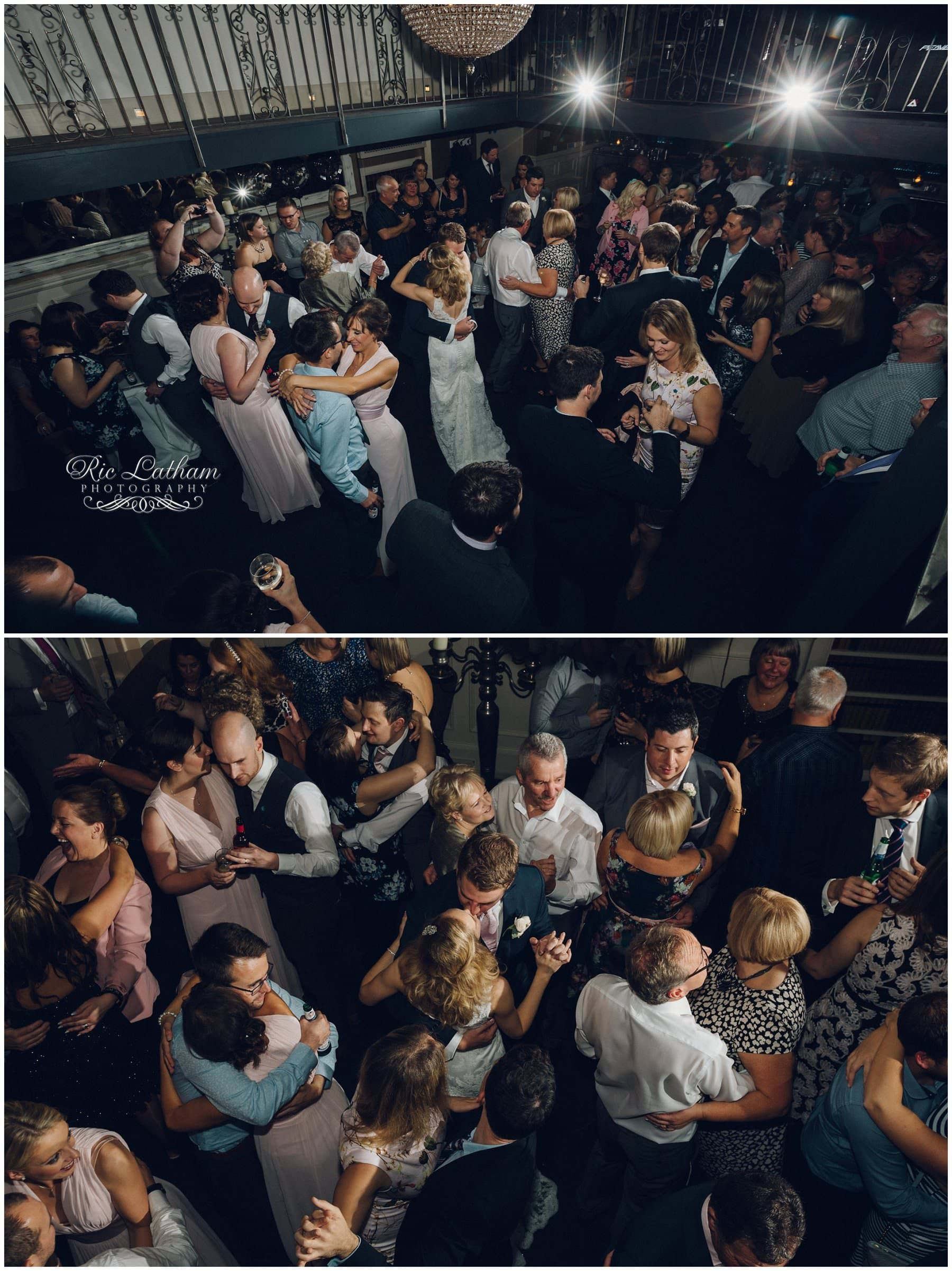 wedding guests dancing at Great John Street Hotel